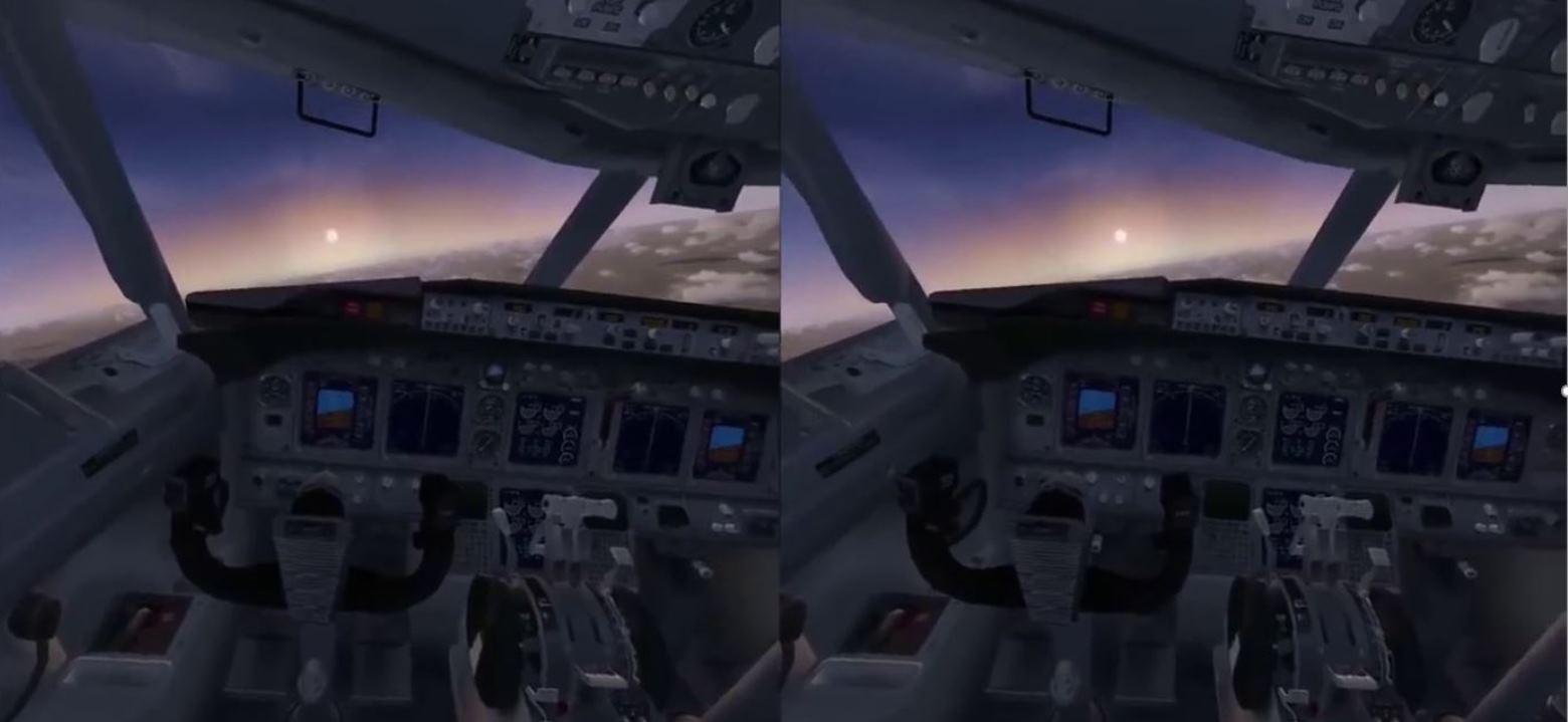 VR Flugsimulation