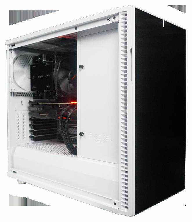 Extra leise Workstations, Workstation mit semipassiver Kühlung