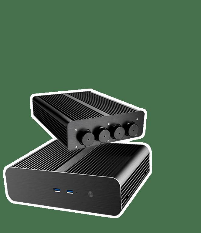 Industrie PC / Server  mit lüfterloser Kühlung und stabilem Betrieb